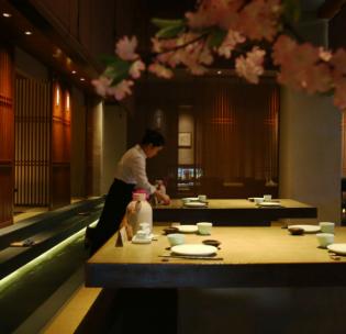 板上日本菜