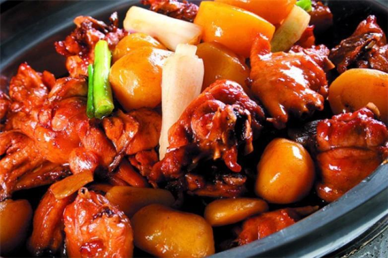 板栗焖烧鸡养生饭加盟
